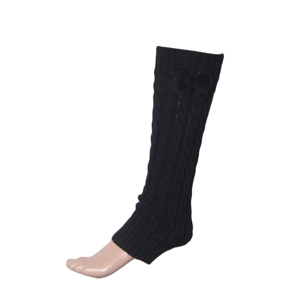 Women Bowknot Boot Cuffs Leg Warmers - Diana's Space