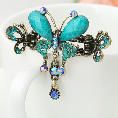 Vintage Butterfly Flower Hair Clip - Diana's Space