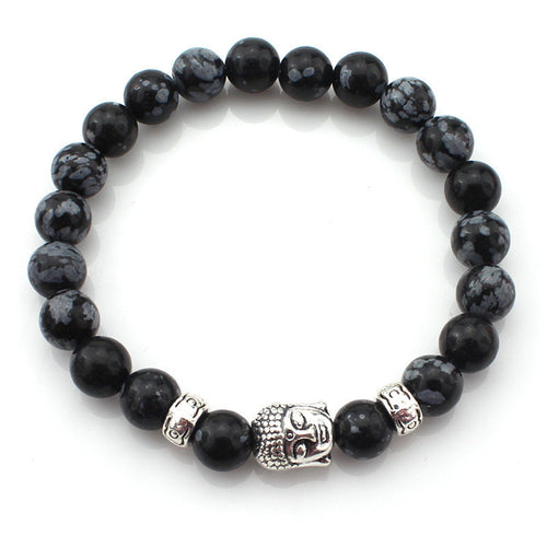 (3 pcs/lot) Natural Stone Buddha Bracelets  & Multicolor Bracelet Wristband - Diana's Space