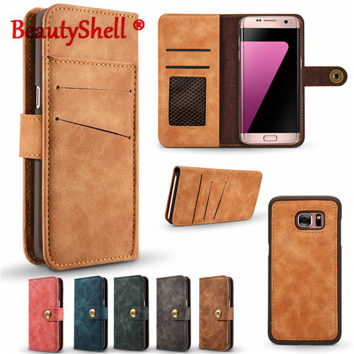 BeautyShell Flip Cover For Samsung S7  Genuine Leather Wallet Phone Case For Samsung Galaxy S7Edge - Diana's Space