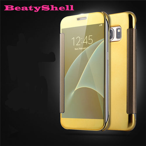 BeautyShell Case Mirror Flip Leather Phone Cases For Samsung S7, S7 Edge - Diana's Space