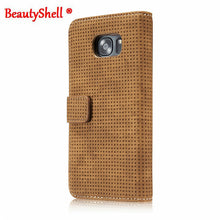 BeautyShell Vintage Breathable Style PU Leather Wallet Case Stand Flip Cover for SAMSUNG S7, S7Edge - Diana's Space