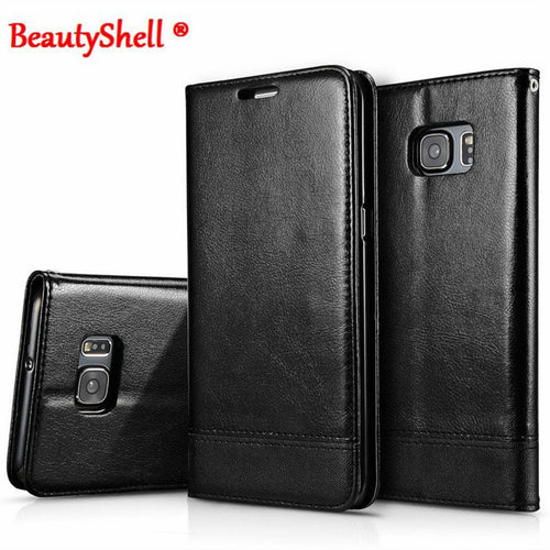BeautyShell Leather Wallet Case With Strap Stand Flip Cover for Samsung S6, S7, S7Edge, Note5 - Diana's Space