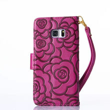 BeautyShell Camellia  Leather Wallet Case For Samsung Galaxy Note4 Note5 - Diana's Space