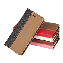 Wood Grain Leather Phone Case w/ Card Pocket  For Motorola G3 - Diana's Space