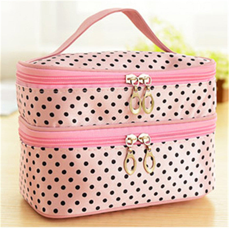 2017 Fashion Portable Colorful Small Dots Toiletry Makeup Wash Case New Handbag Travel Cosmetic Bag Gift Free Shipping S385 - Diana's Space