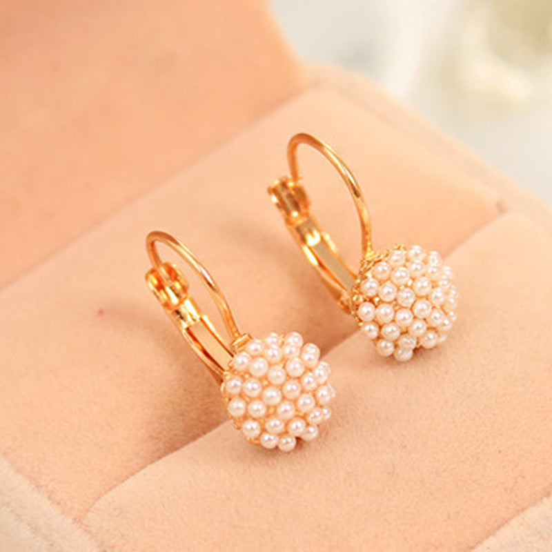 Simulation Pearl Beads Ear Earrings - Diana's Space