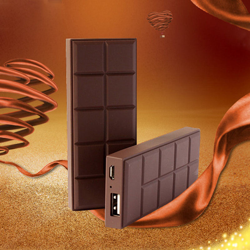 Super Slim Chocolate Style Power Bank 3000mAh External Battery Charger - Diana's Space