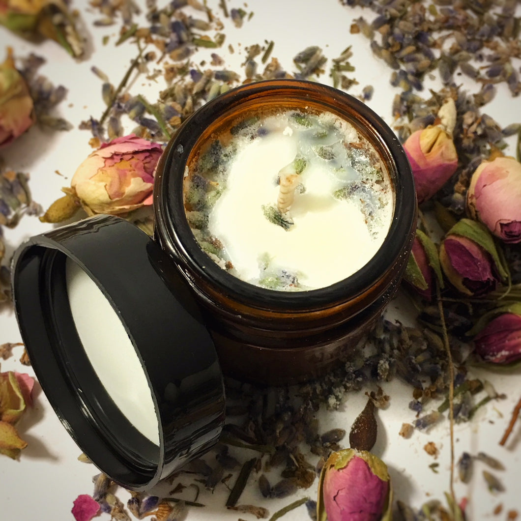 Hot Oil Lavender Massage Candle