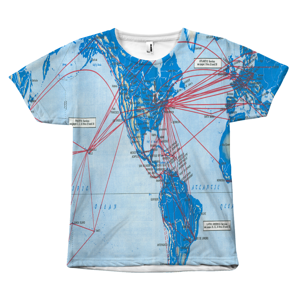 Pan Am Route Map T-Shirt