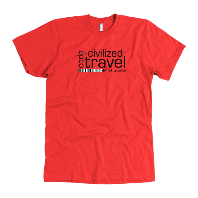 jetiquette. code of civilized travel. Tee shirt