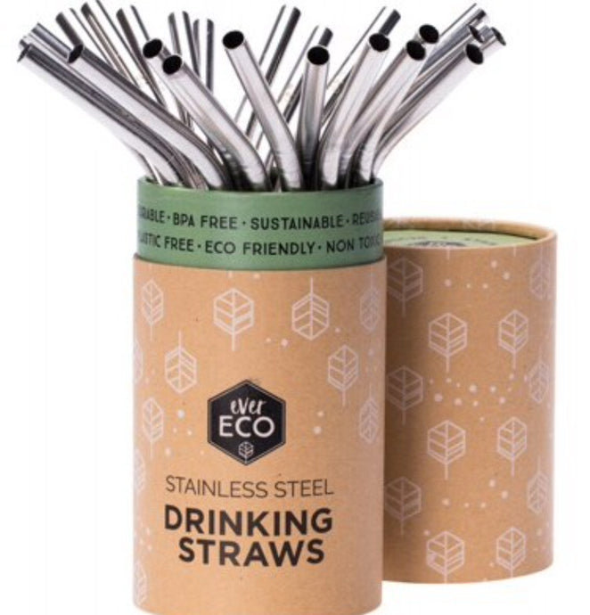 Ever Eco Reusable Stainless Steel Straws | Bent 25 Pack | Bulk - Integrity Lane