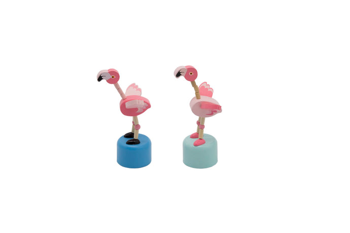 10x WOODEN DANCING FLAMINGO TOY PARTY FAVOUR - Integrity Lane