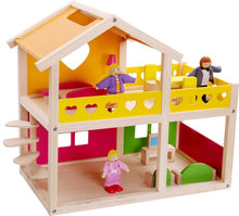 Wooden Doll house | 2 Storey | Happy Villa | Tooky Toy | Pretend Play | Dolls - Integrity Lane