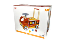 Wooden Ride on Fire Truck | Tooky Toy | Baby Toddler | Shape Sorter | Red - Integrity Lane