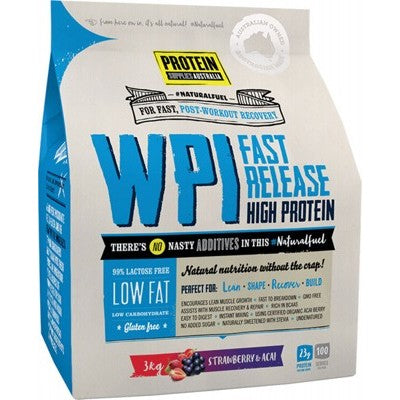 Protein Supplies Australia WPI Whey Protein Isolate | Strawberry & Acai  | 3kg - Integrity Lane
