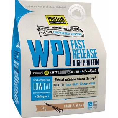 Protein Supplies Australia WPI Whey Protein Isolate | Vanilla Bean | 3kg - Integrity Lane