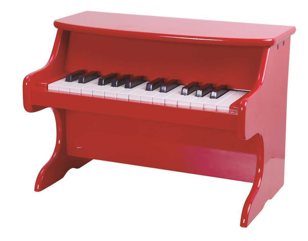 Children's Wooden Piano - Red | Kids Toddler | Musical Instrument Educational Toy - Integrity Lane