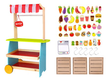 Wooden Kiosk Shop | Children Kids | Tooky Toy | Food | Pretend Play | Kitchen - Integrity Lane