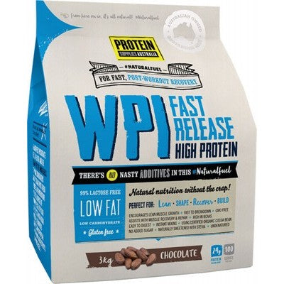 Protein Supplies Australia WPI Whey Protein Isolate | Chocolate | 3kg - Integrity Lane