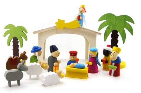 Wooden Nativity Christmas Set - Integrity Lane