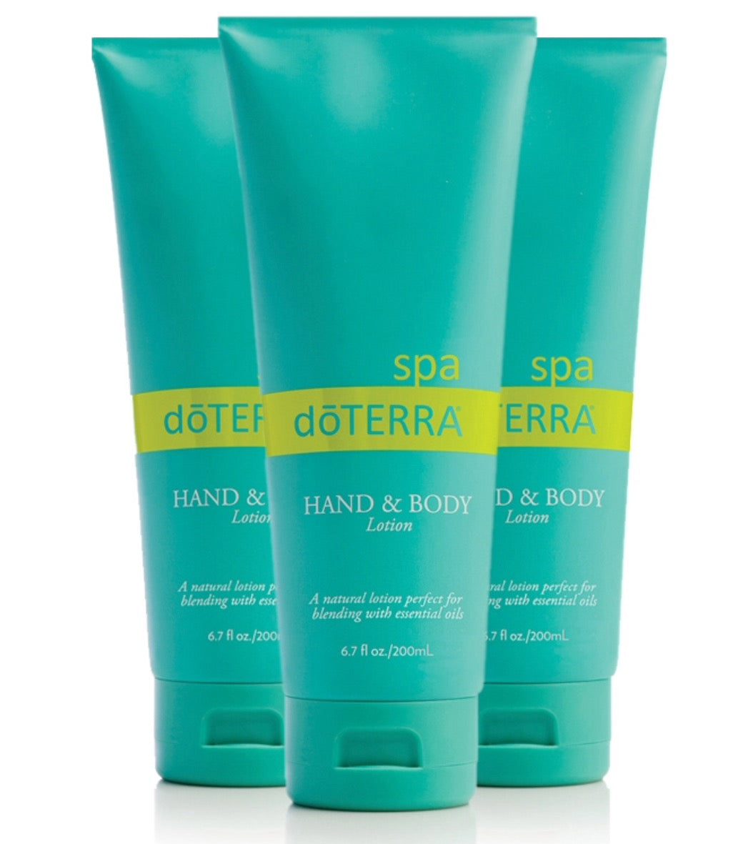 Doterra Spa Hand & Body Lotion | 3-Pack | Fragrance Free - Integrity Lane