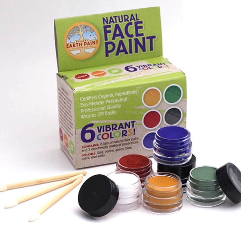 Natural Earth Face Paint (Kit of 6 with Applicators) - Non Toxic & Organic - Integrity Lane