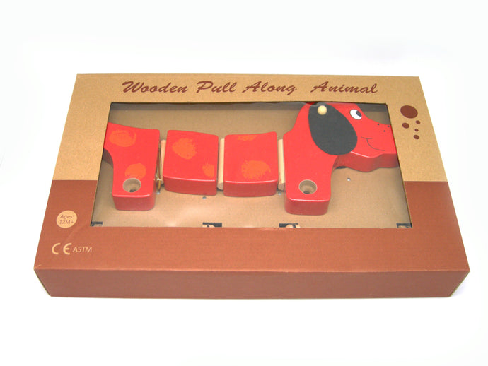 Wooden Pull along Sausage Dog - Integrity Lane