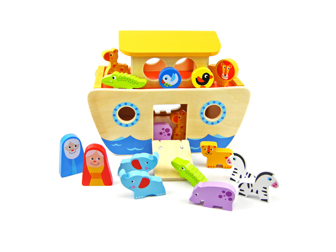 Noah's Ark Wooden Box Set | 18 Pieces | Tooky Toy | Noahs - Integrity Lane