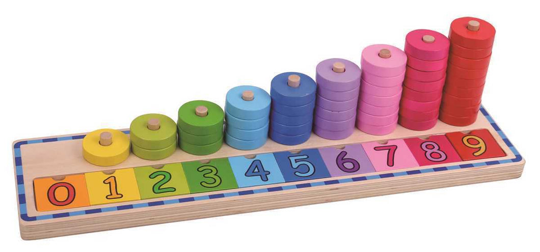 Wooden Counting Stacker | Numeracy Numbers Educational Maths | Tooky Toy | Kids - Integrity Lane