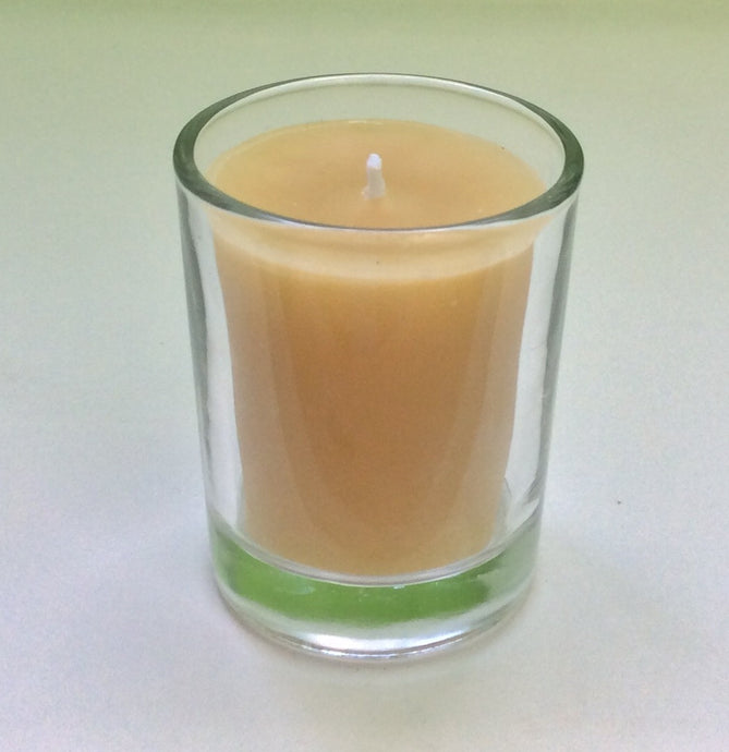Beeswax Votive Candle with Glass Holder - Integrity Lane