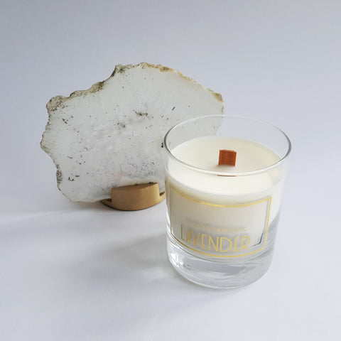Natural Soy Wax Wooden Wick Candle