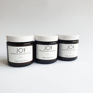 Joy - Coconut Wax Organic Oils Vegan Jar Candle