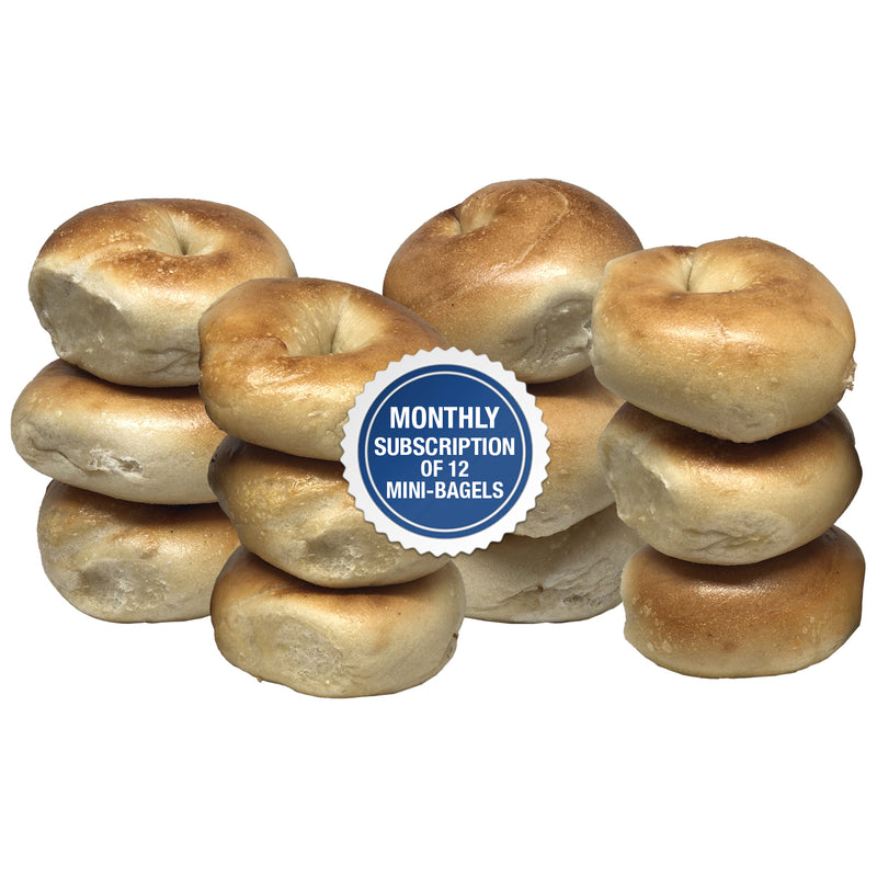 Montlhly Recurring Subscription of 12 Mini Bagels