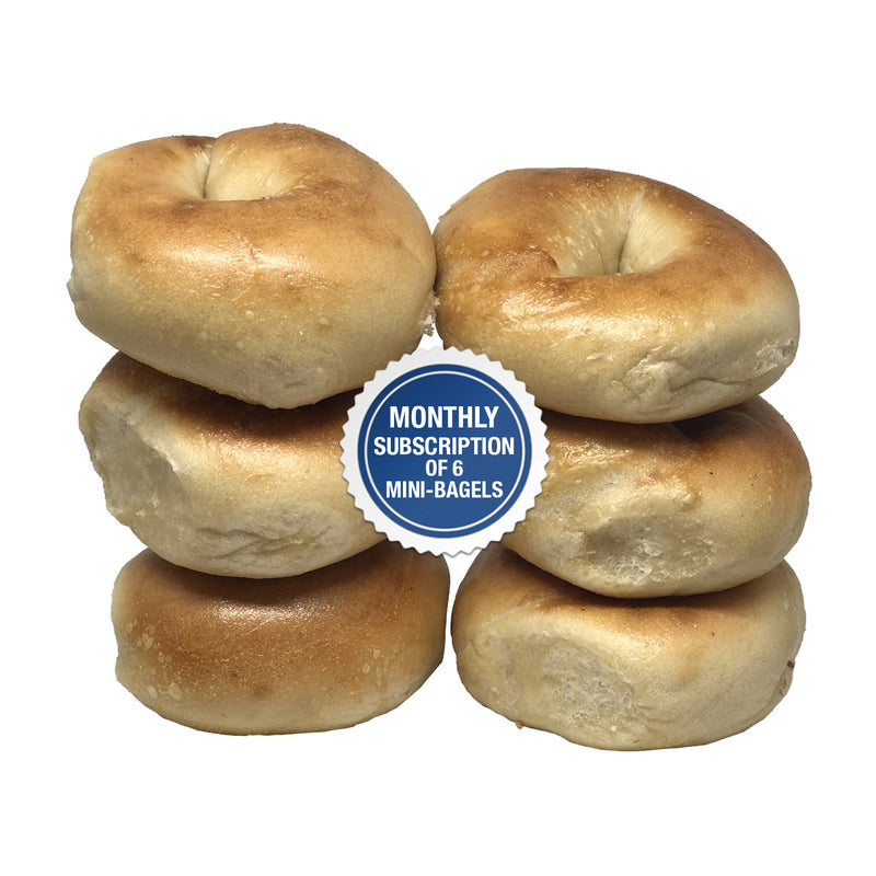 Montlhly Recurring Subscription of 6 Mini-Bagels