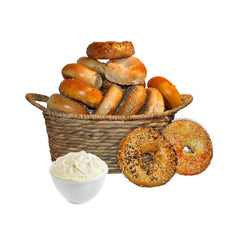 1 Dozen Bagels with Cream Cheese (1 lb)