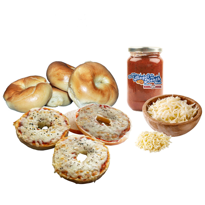 "The QB Sneak (""DIY"" Pizza Bagel Kit)"