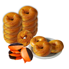 12 Pumpkin Spice Bagels and 8 Black & Orange Cookies Combo Box