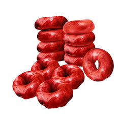 13 Red Love Bagels