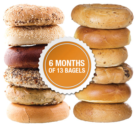 6 Months of 13 New York Bagels Package