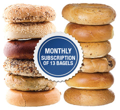 Monthy Bagel Subscription of 13 Bagels