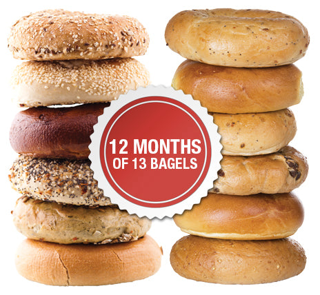 12 Months of 13 New York Bagels Package