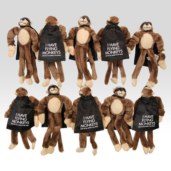 "Super Fly Monkey ""I have flying monkeys & I'm not afraid to use them"" 10-Pack"