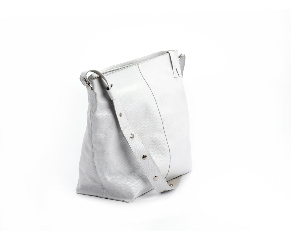 Tote bag White textured leather