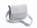 double clutch bag light grey croc leather