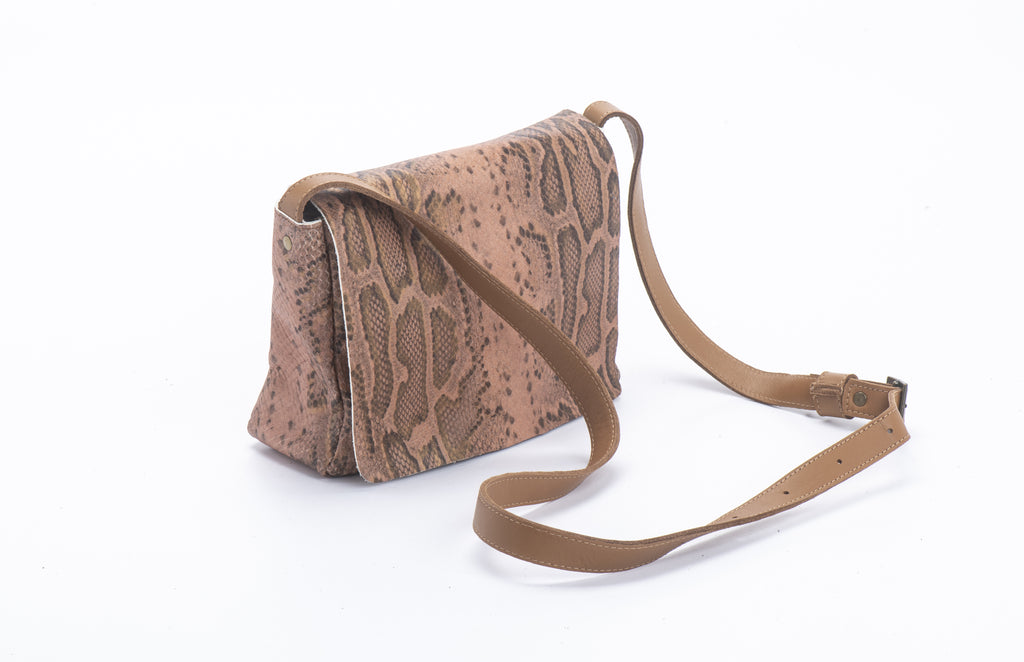 perfect size cross body bag snake leather