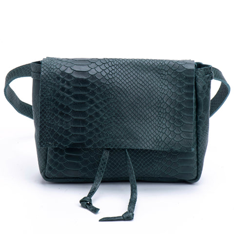 Small cross body bag croc leather