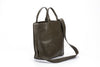 Large Tote bag Olive Green Leather