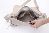Large Shoulder Bag cream leather