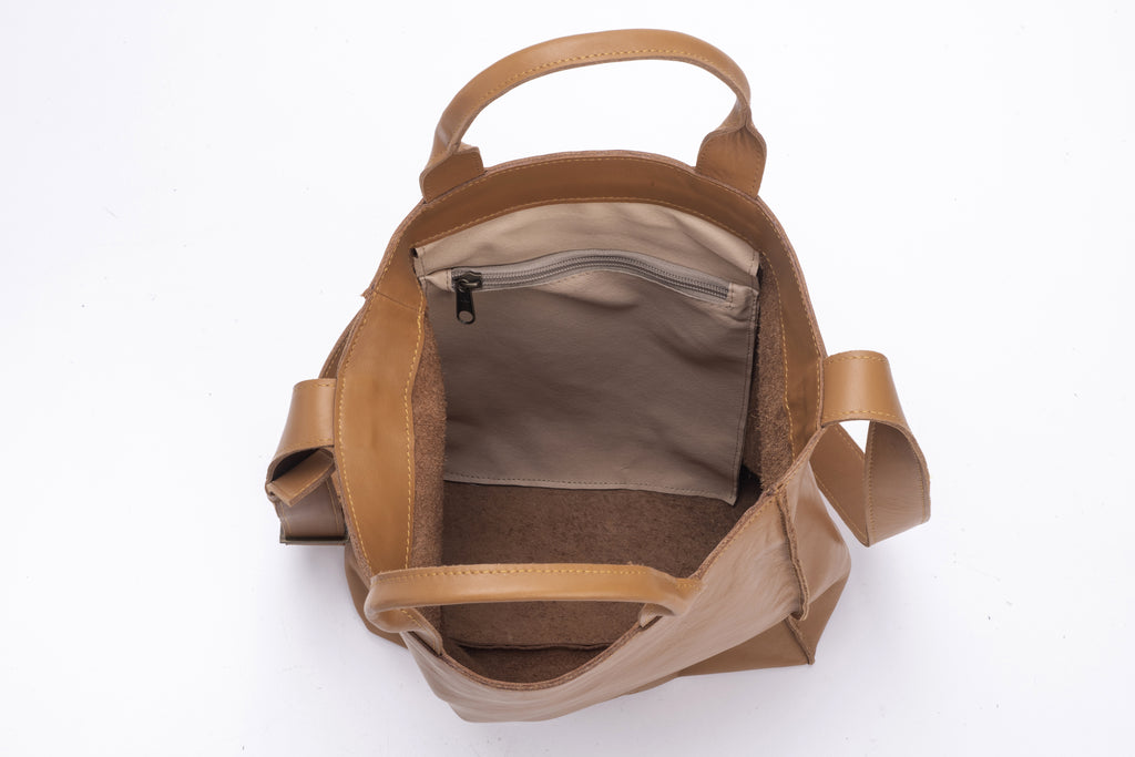 Large Tote bag Camel Leather